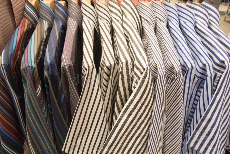 Shirt hanging at display shop stock photo