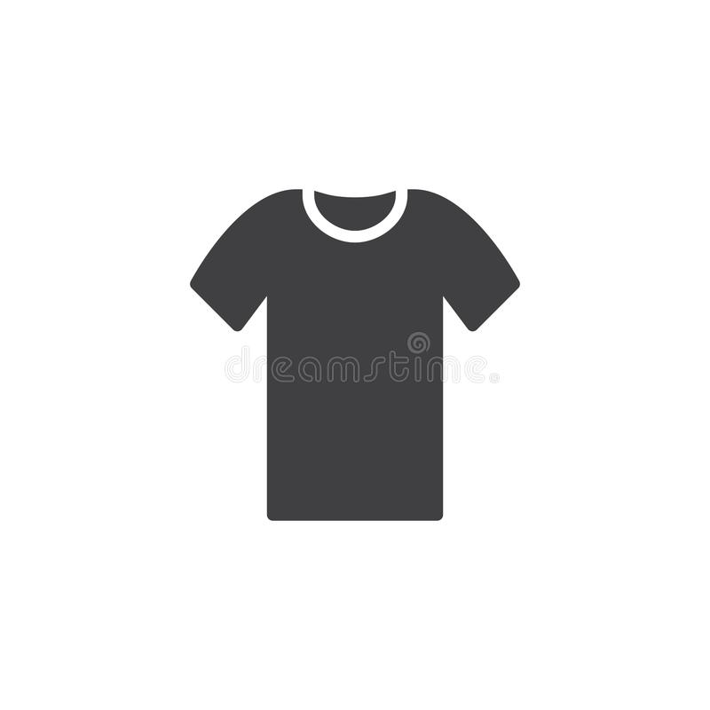 Shirt icon vector royalty free illustration