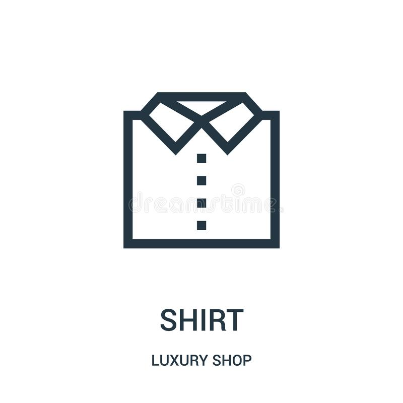 shirt icon vector from luxury shop collection. Thin line shirt outline icon vector illustration stock illustration