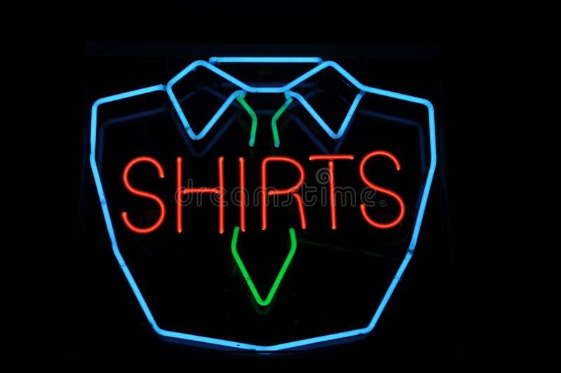 Shirt Neon Sign stock photography