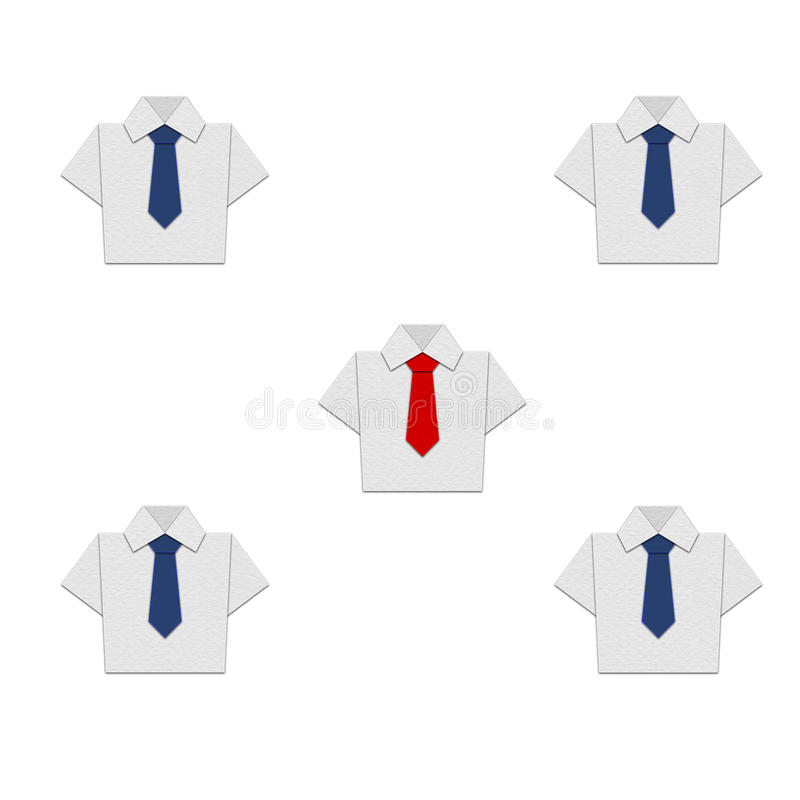 Download Shirt Origami With Tie Vector Design Stock Illustration