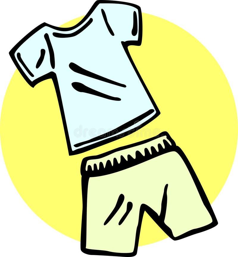 Shirt And Shorts Vector Illustration Royalty Free Stock Image