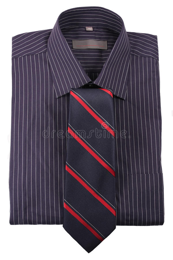 Shirt In Strip  With  Tie Stock Photography
