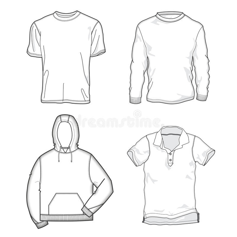 Shirt templates vector illustration