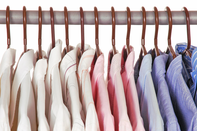 Download Shirt and Tie stock image. Image of blue, pink, rack, longsleeve - 4315237