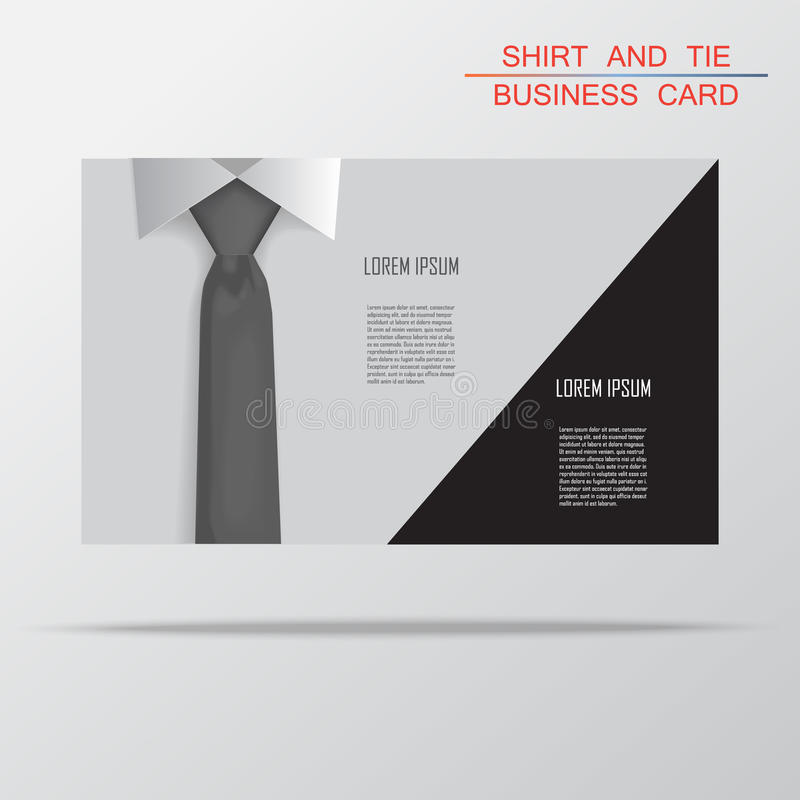 Shirt And Tie Business Card Bacground Vector Royalty Free Stock ...