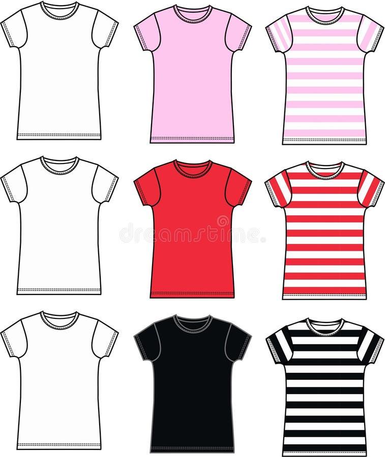 Shirtansammlung stock abbildung