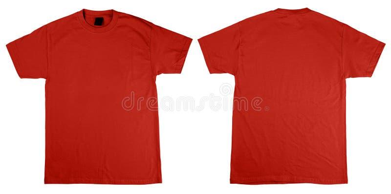 Shirtfrontseite und -rückseite lizenzfreie stockfotos