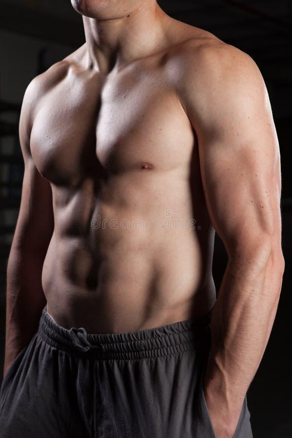 shirtless στάση τύπων στοκ εικόνα