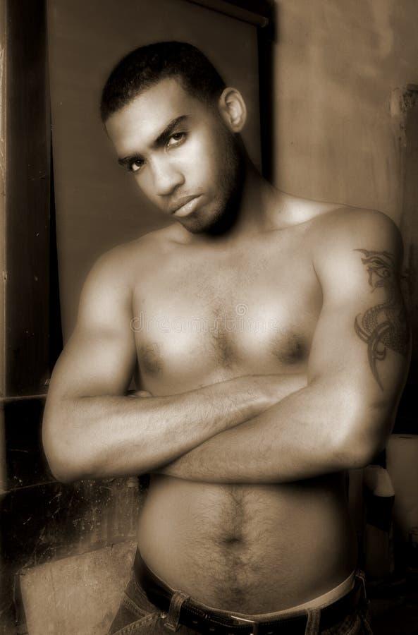 shirtless στοκ εικόνα