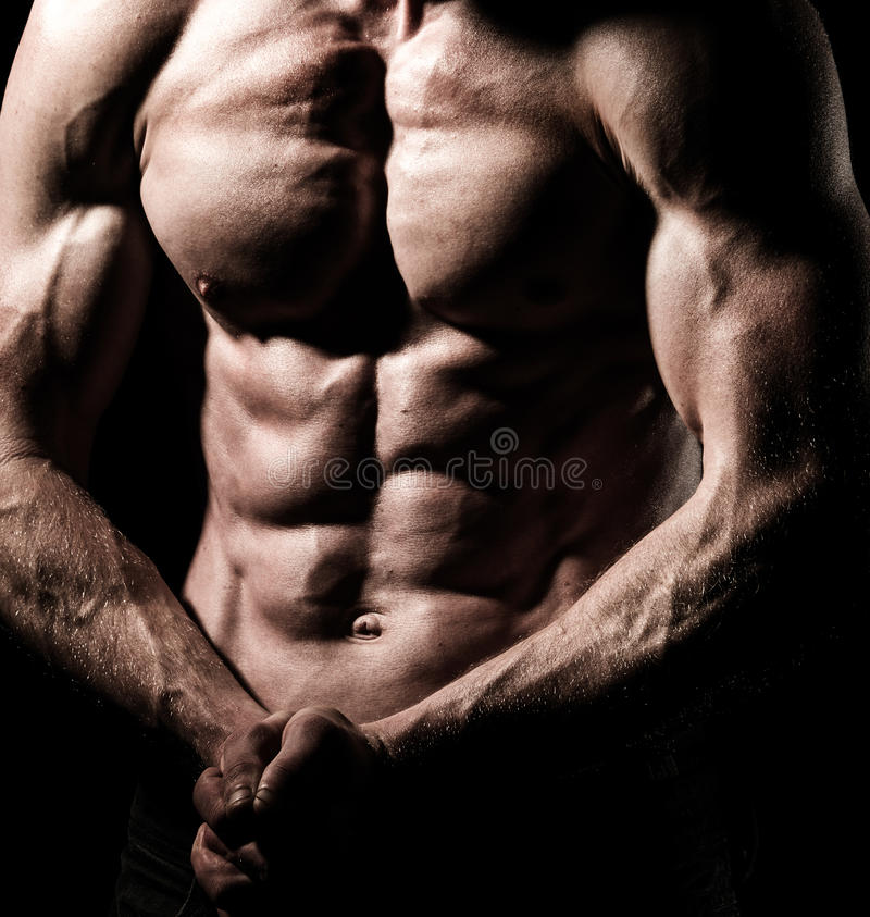 Shirtless and fit male royalty free stock photos