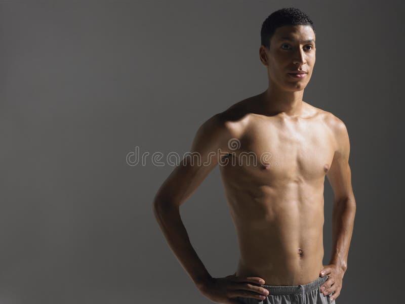 Shirtless Jonge Atleet royalty-vrije stock afbeelding