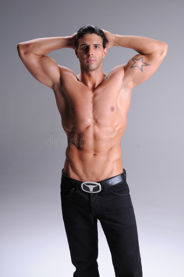 Shirtless jonge mens stock foto's