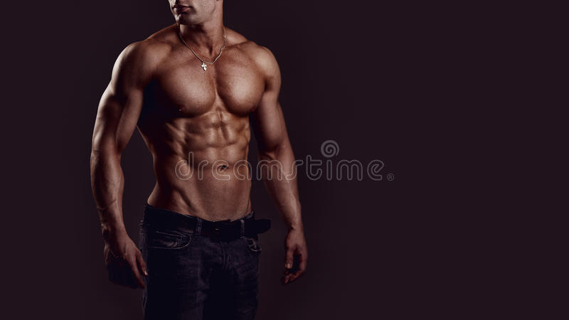 Shirtless Jonge Mens royalty-vrije stock foto's