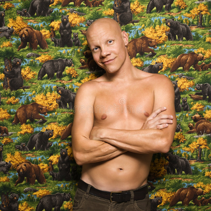 shirtless male portait royaltyfria bilder