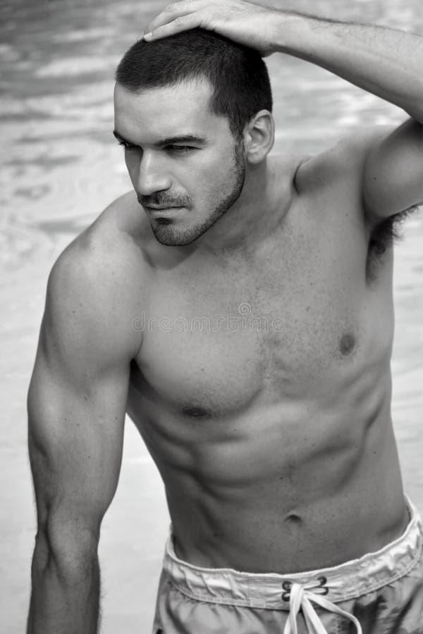 shirtless man royaltyfria bilder