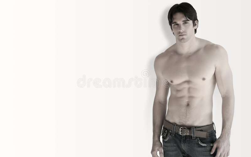 Shirtless man royalty free stock image