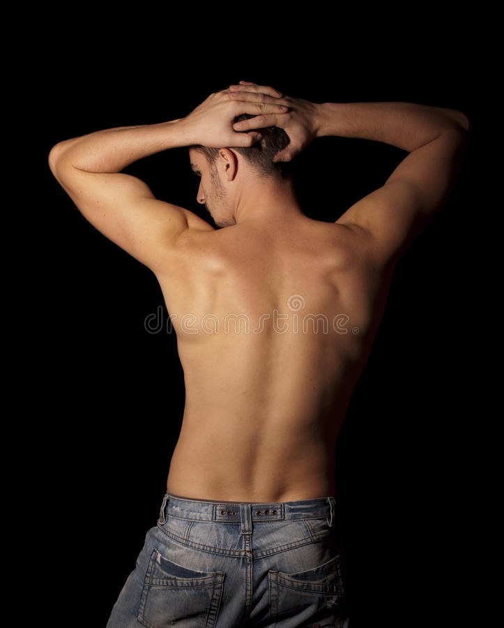 Shirtless man royalty free stock photos