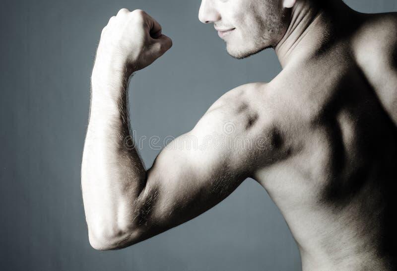 Download Shirtless Man Showing His Biceps Stock Photo - Image: 26268138