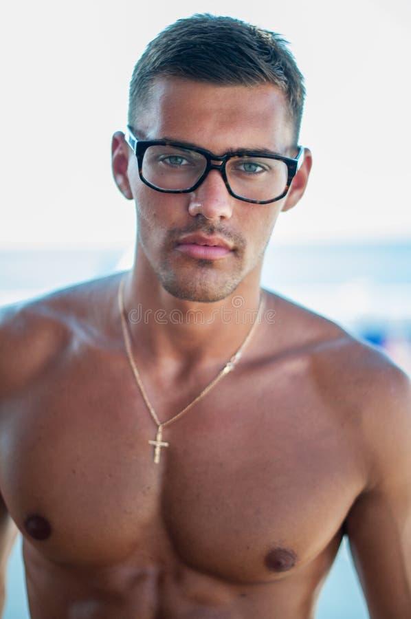 Shirtless mannelijk model royalty-vrije stock foto's