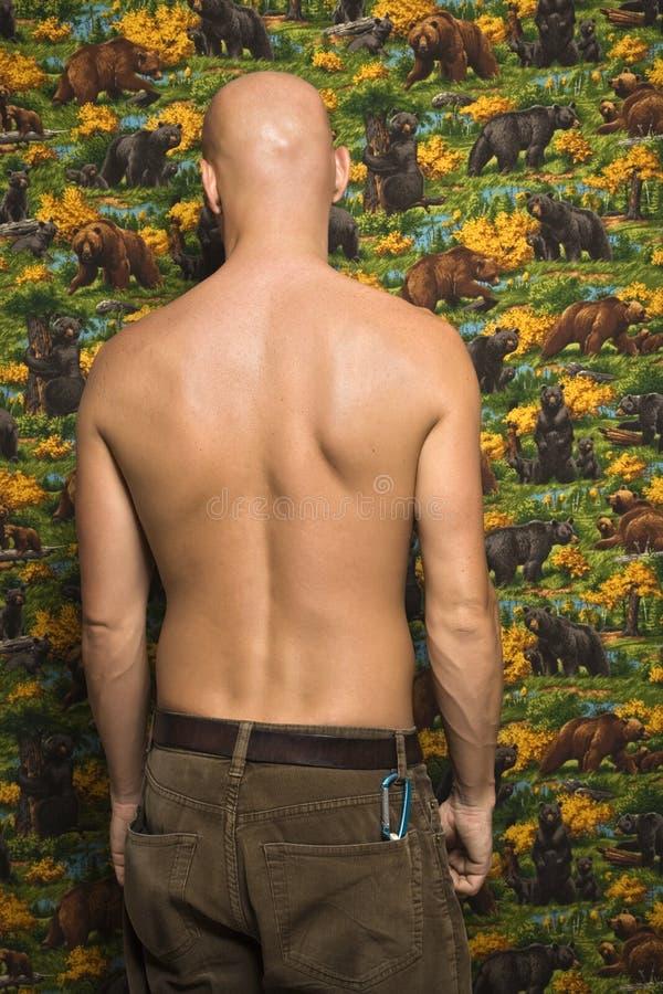 Shirtless mannetje portait. stock fotografie