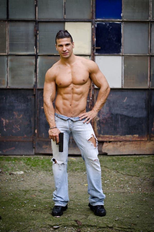 Muscular latino men
