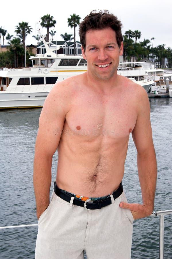Shirtless Sailor royalty free stock images