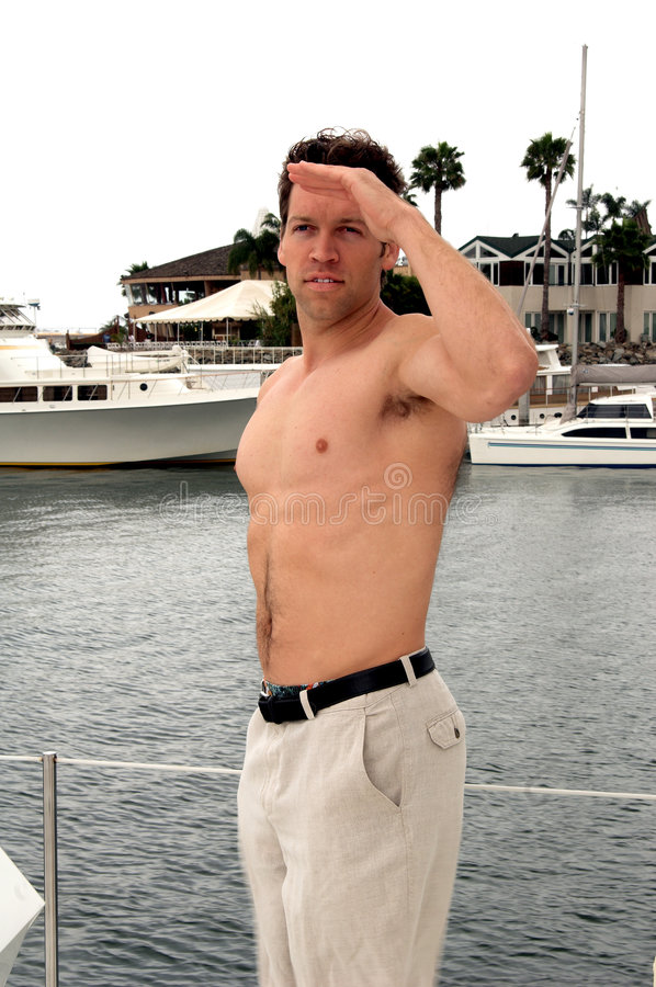 Shirtless Sailor Stock Photo Image Of Person Outdoor