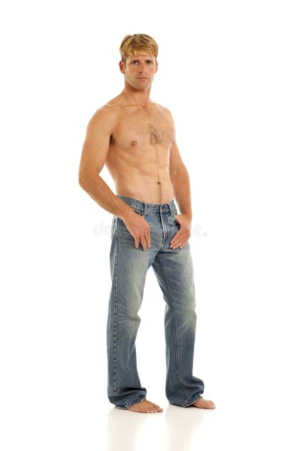 Shirtless Young Man Stock Photo