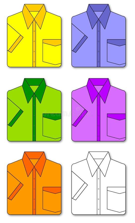 Colorful set of shirts royalty free stock image