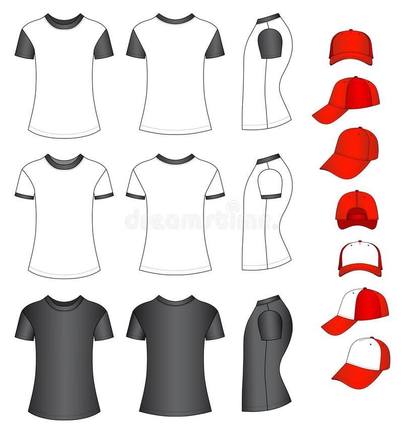 Shirts And Baseball Caps Royalty Free Stock Images