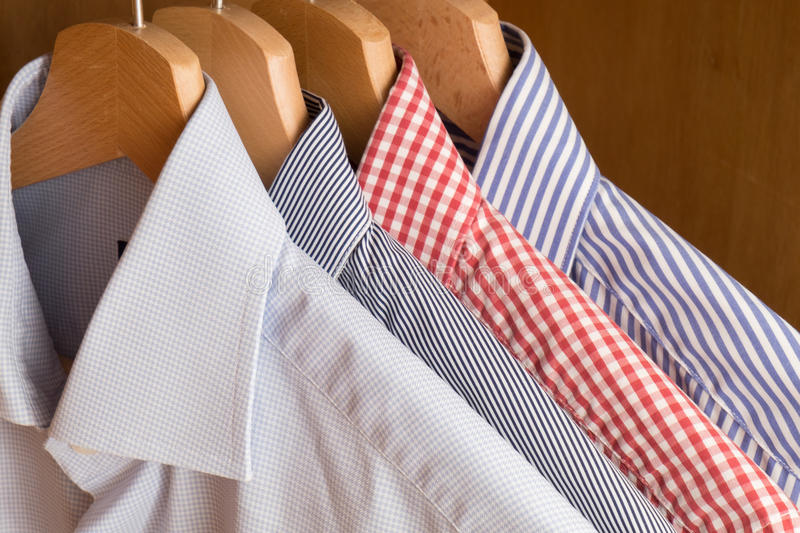 Shirts in several colors. And textures stock image