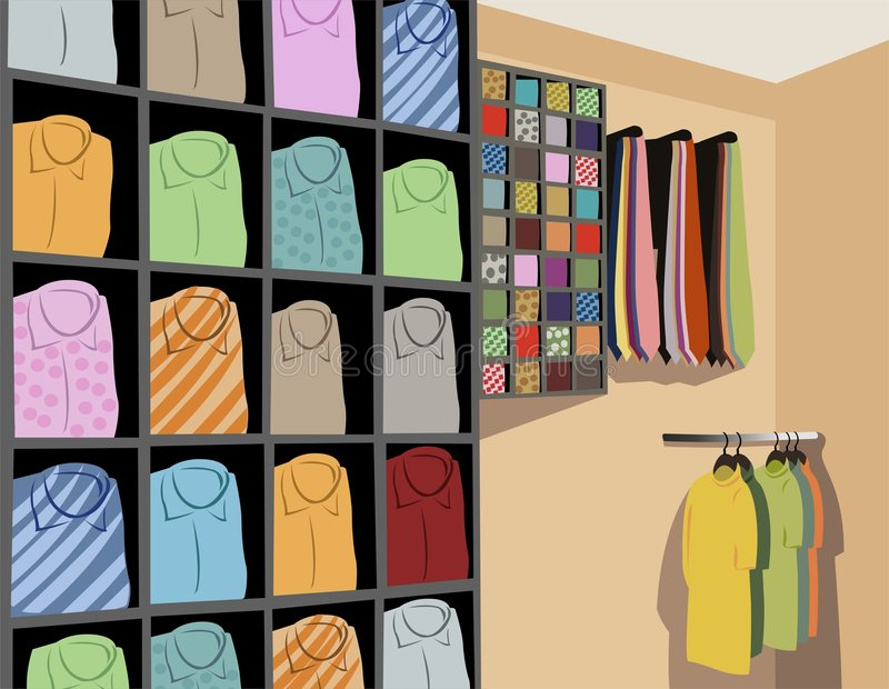 shirts store vector ελεύθερη απεικόνιση δικαιώματος