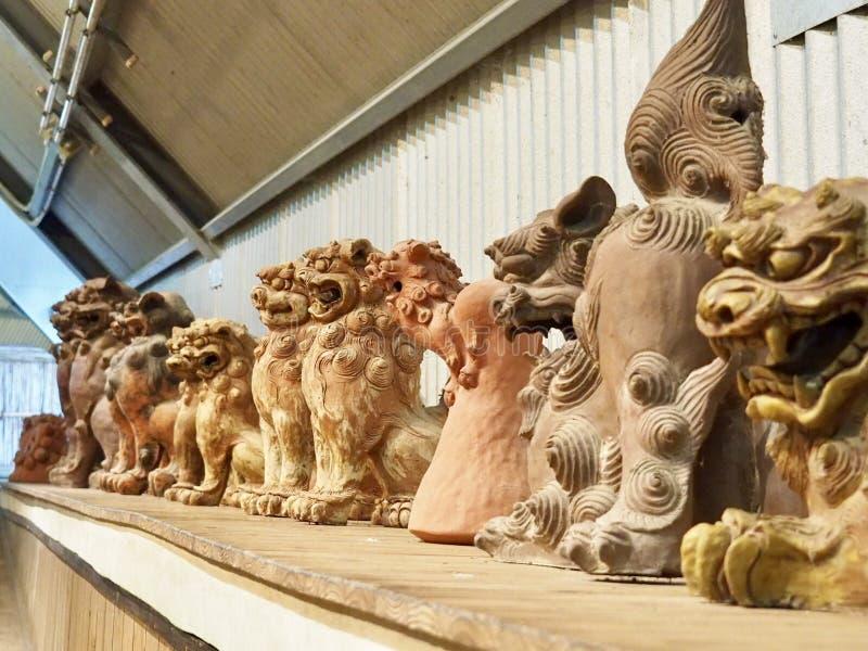 Shisa - λιοντάρι φυλάκων στη Οκινάουα, Ιαπωνία στοκ εικόνα με δικαίωμα ελεύθερης χρήσης