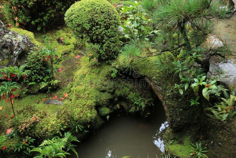 Shisen-tuinieren van dalingsseizoen stock afbeeldingen