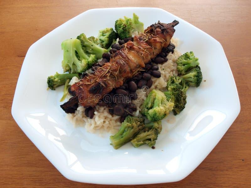 Download Shish kabob - pork loin stock image. Image of broccoli - 13459839