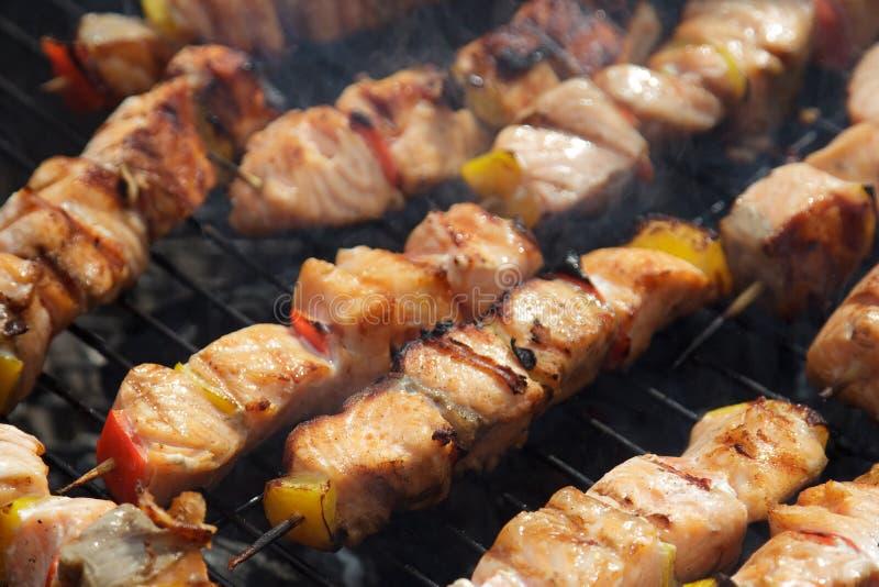 Shish kebab lizenzfreie stockbilder