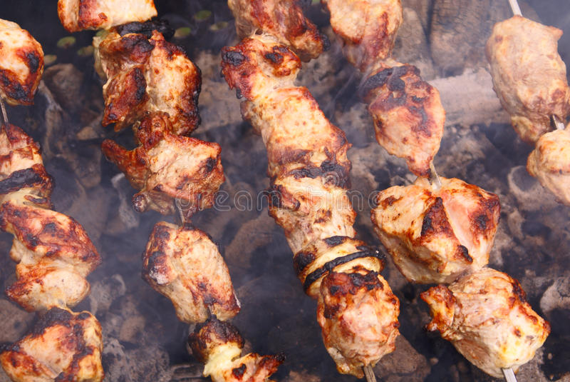 Shish kebab stockbilder