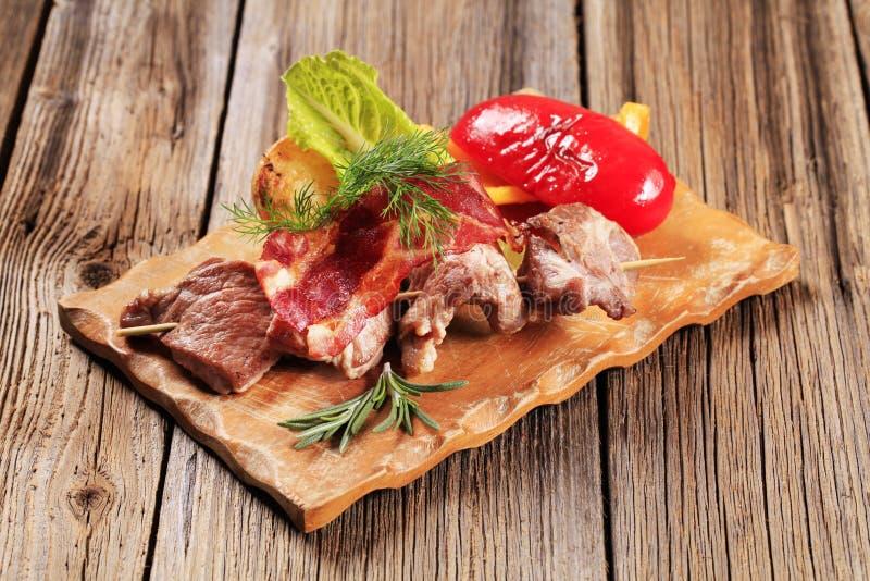 Shish kebab royalty-vrije stock foto's