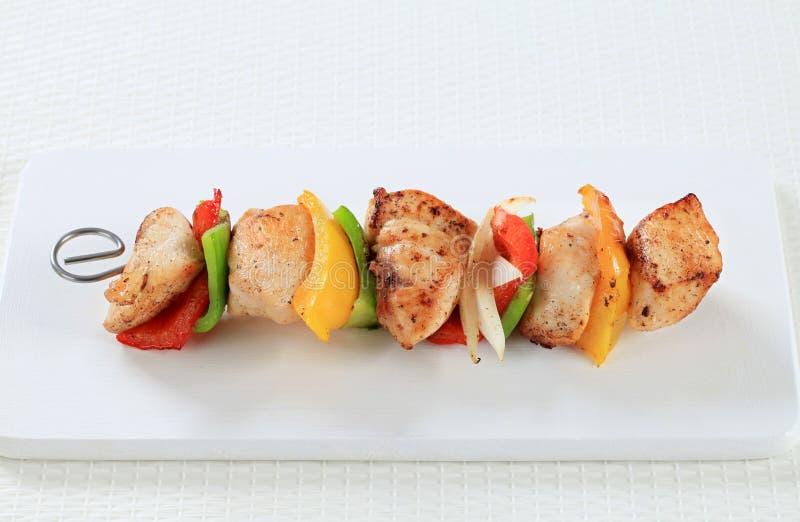 shish kebab kurczaka obrazy stock