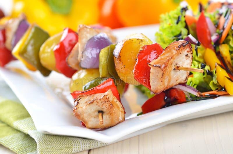 Shish kebab skewers royalty free stock images