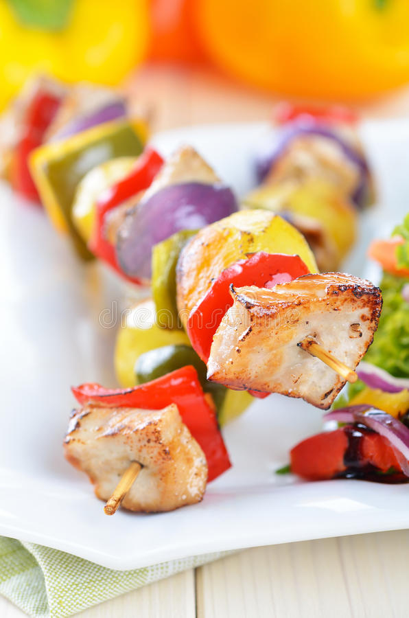 Free Shish Kebab Skewers Royalty Free Stock Photography - 23292957