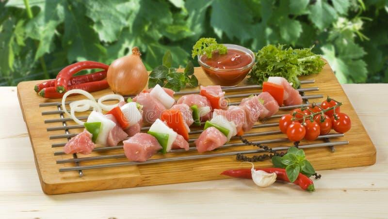 Shish kebabs stockbilder