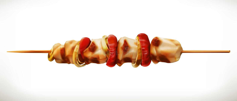 Shish kebabu ikona ilustracji