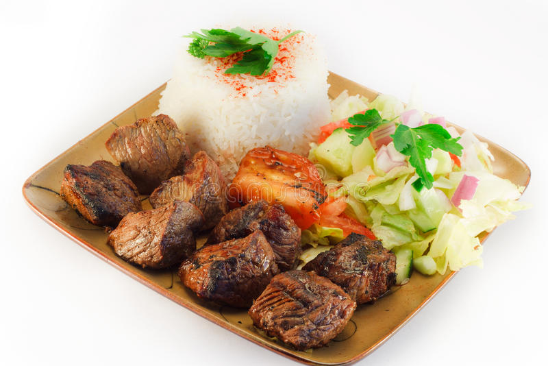 Shish Kebob, beef royalty free stock image