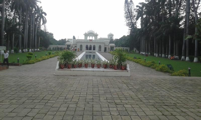 Pinjore Gardens. Shish mahal of the historic pinjore gardens, Haryana, India royalty free stock photo