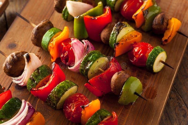 Shish végétal fait maison organique Kababs photographie stock libre de droits
