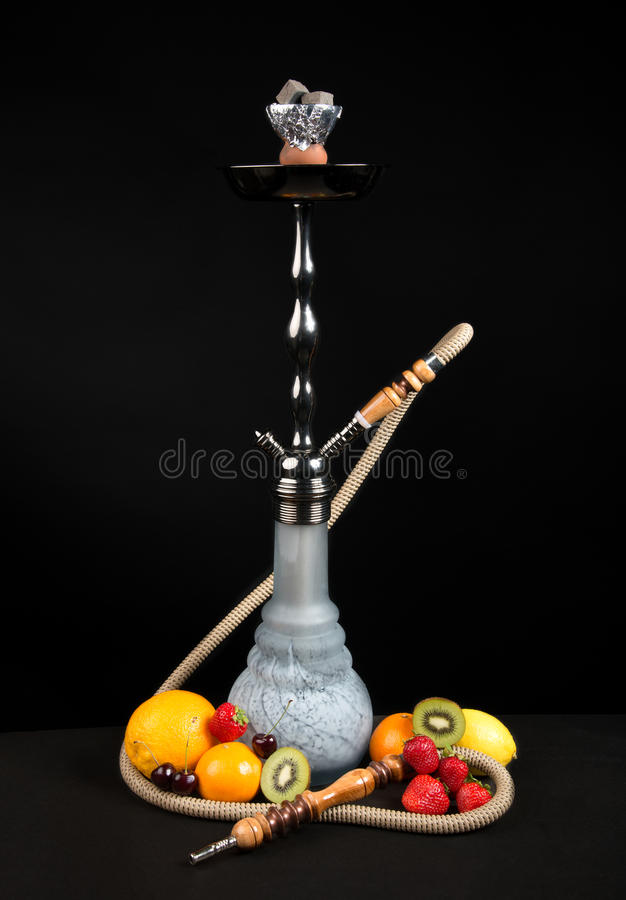 Shisha水烟筒或Sheesha水管 库存照片