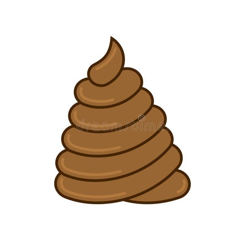 Shit big pile. large turd. Huge Poop brown stock illustration