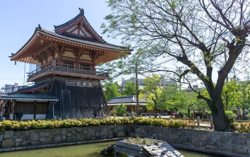 Shitennoji寺庙塔 图库摄影
